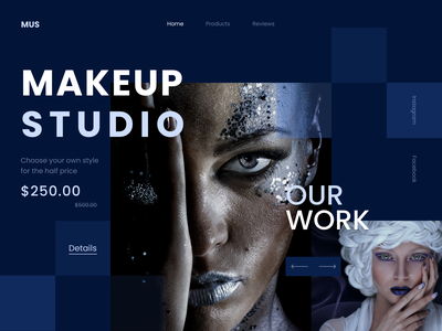 Home page / MAKEUP work studio makeup design homepage
