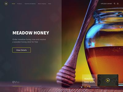 Honey glasmorphism product product light bee yelow dright gentel creative glasmorphism sweet design