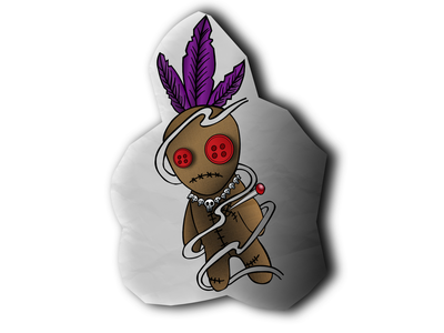 Voodoo Child creative design illustration magic mystical halloween vector voodoo animated doll