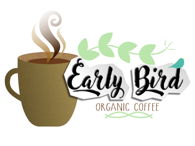 Early Bird Coffee creative design illustration vector earthy organic bird logo advertising coffee