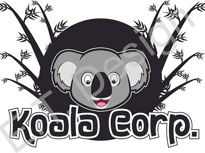Koala Corp koala branding colorful animated advertising logo vector design illustration creative