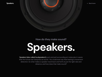 Speakers. How it works? animation maxon3d motion web design 3d model zajno website cinema4d c4d 3d