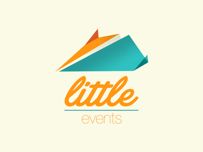 """Little events"" airplane kids events logo agency little plane branding aeroplane paper logotype"