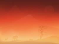"""Vector illustration concept """"Sandstorm"""""""