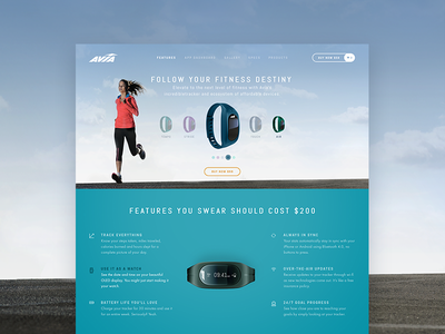 WIP. Website design concept for a sporting goods company. zajno design landing modern lifestyle fitness sport clean web ux ui minimal