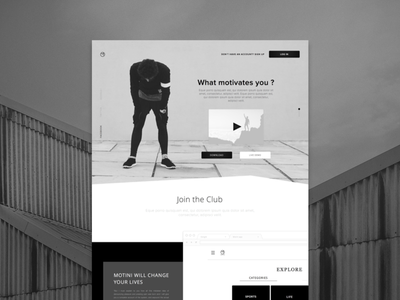 Creative landing page design for a motivation application zajno graphic design interface minimal ui ux web clean simple app modern