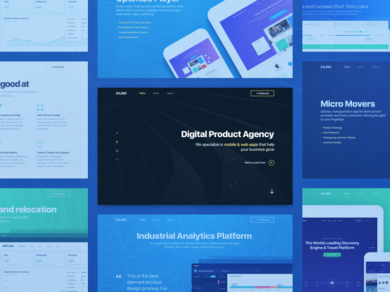 Product digital agency website design by sasha turischev for Digital product design agency