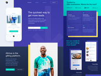 Landing Page Design for Gift Giving Platform
