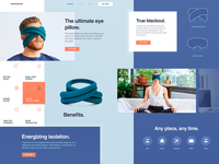 Innovative Eye Pillow Landing Page Design