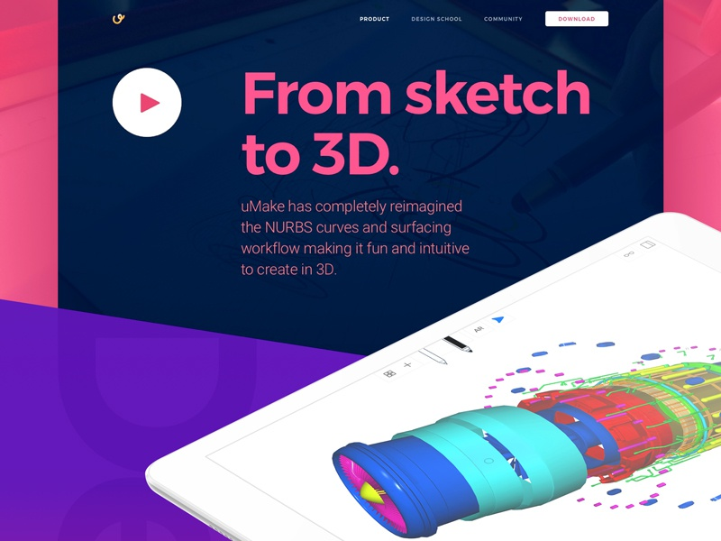 Website Design for 3D Sketching Platform with AR Functionality