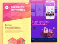 Creative Page Design for AR 3D Platform Website