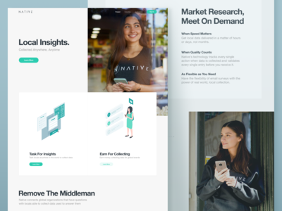 Website Redesign for a Market Research Platform