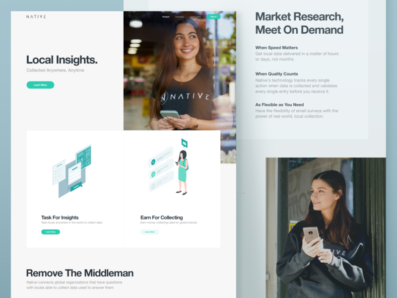 Website Redesign for a Market Research Platform informative research business progressive intuitive smart illustrations clean platform data collection market research grid whitespace utilization neat composition layout experience product ui ux data visualization web design zajno