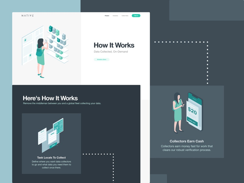 Website Redesign for a Market Research Platform informative research business progressive intuitive smart illustrations clean platform how it works market research grid whitespace utilization neat composition layout experience product ui ux data visualization web design zajno