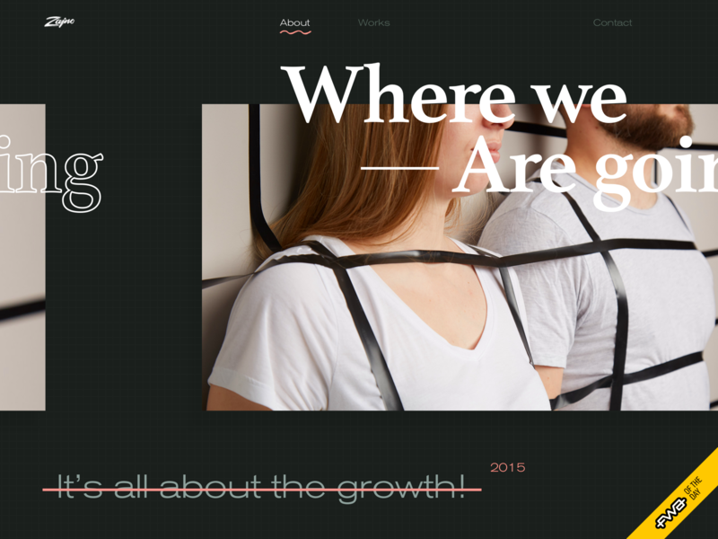 The New Zajno Website Wins FWA of the Day! about page fwa of the day trendy fashionable brutal unconventional layout stylish dark experience photography business bold typography team progressive product ui ux digital agency design studio web design zajno