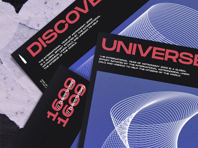 Posters for International Astronomy Day type illustration layout design color typography print poster vector art flat brand identity creative graphics experiment 3d visual c4d cinema4d cinema 4d design zajno