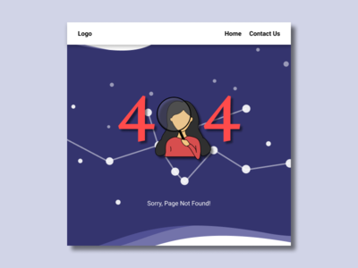 404 Not Found web design vector illustration dailyui 008 ux ui dailyui