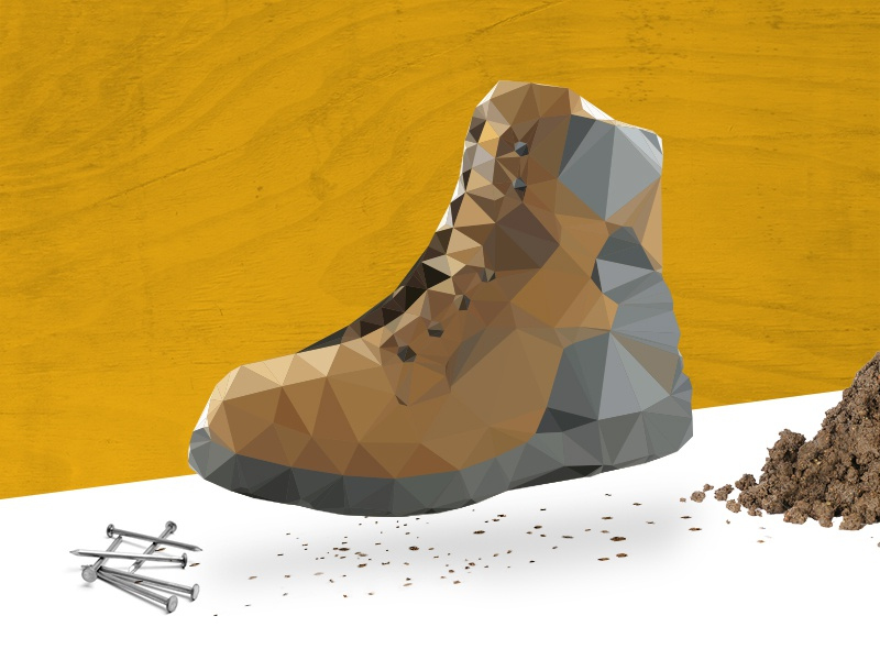 Low poly illustration boot