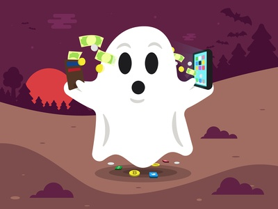 Halloween Sticker: Ghost