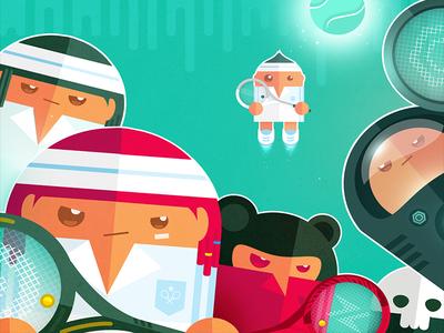 Jump, Smash Characters character design super casual jump smash squash gaming mobile icon app
