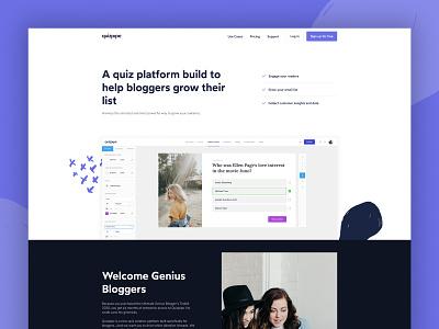 quizpipe web app branding ui design