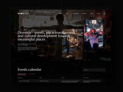 Dionysus gatsby website ui branding web design