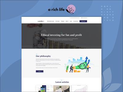 A Rich Life membership site webdesign website