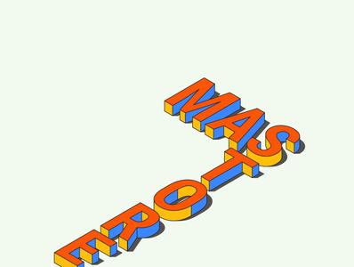 MAS STORE 3D Text Logo branding illustration logodesign logo design logo
