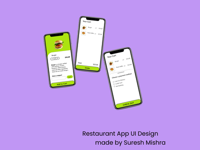Restaurant App UI Design app ui design
