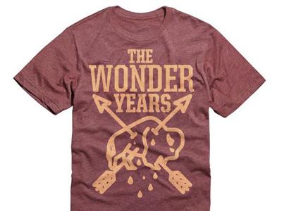 The Wonder Years design illustration merch band shirt music