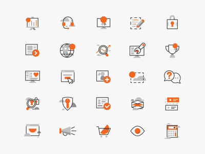 🟠rise icons 🟠 web branding illustration iconography elearning app vector ui icon design