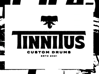🐘🥁 graphic design vector branding music logo typography type illustration design