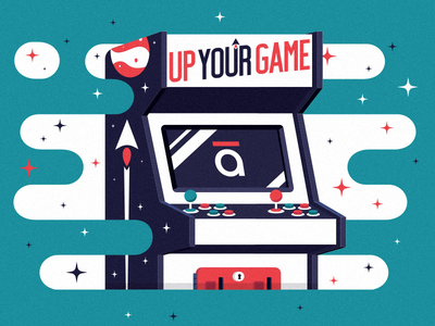 Artcade gaming game design illustration articulate elearning e-learning explore learn arcade
