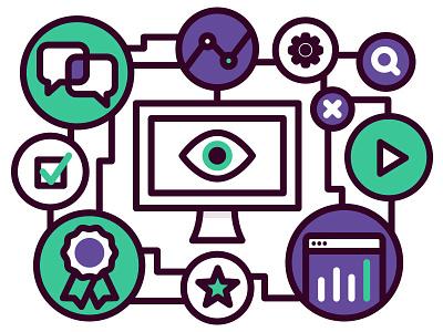 LMS learn system management learning elearning illustration design