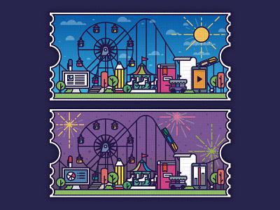 Park amusement park park learning elearning illustration design