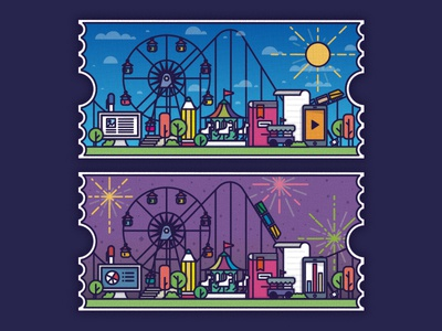 Park amusement park park learning elearning illustration design