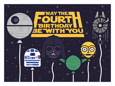 Star Wars Birthday By Greg Christman Dribbble