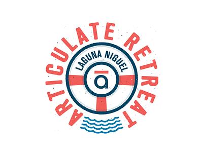 Retreat Badge company retreat badge learn learning elearning illustration design