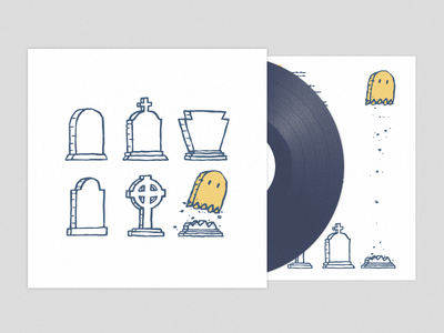Their Dreams are Dead But Ours Is The Golden Ghost cover diy punk slingshot dakota music record album illustration design