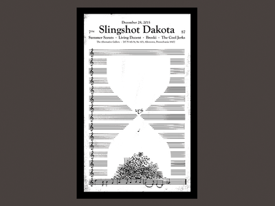 Slingshot Dakota - End Of The Year Poster punk flyer gig end of year gigposter poster design illustration