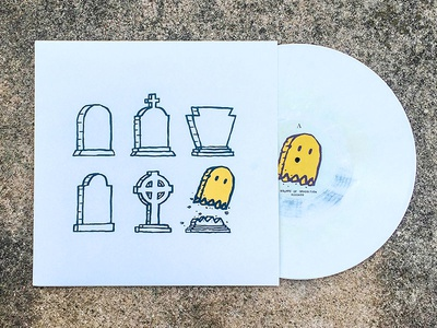 Their Dreams are Dead But Ours Is The Golden Ghost printing screenprint vinyl album music band record illustration design