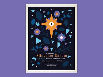 👁 show flyer gigposter poster band merch music bands design illustration
