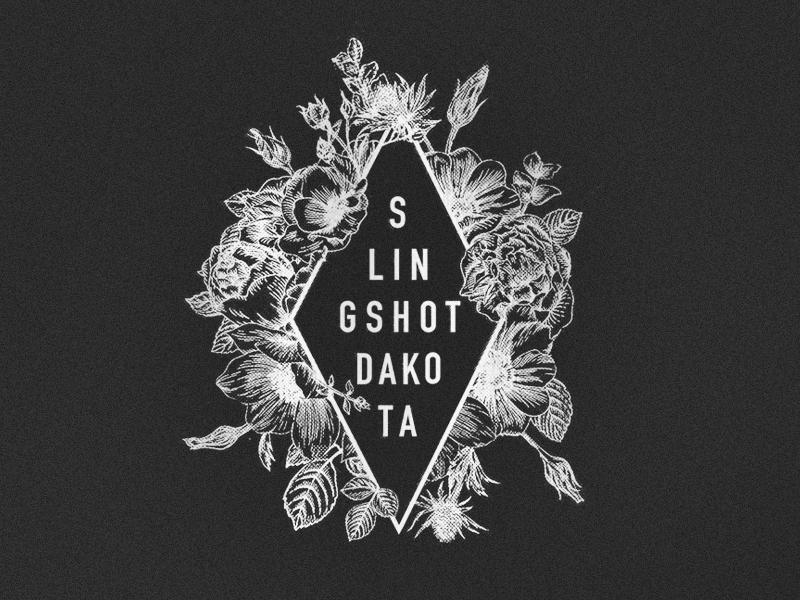 Slingshot Dakota flowers tour punk shirt merch band logo illustration design