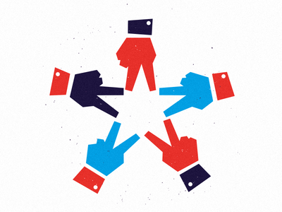 ✌️ america peace design illustration