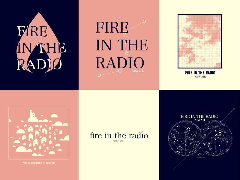 Fire In The Radio punk shirt merch band logo illustration design