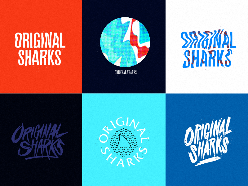 Original Sharks sharks pop-punk punk shirt merch band logo illustration design