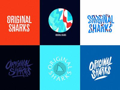 Original Sharks sharks pop-punk punk shirt merch band logo illustration design