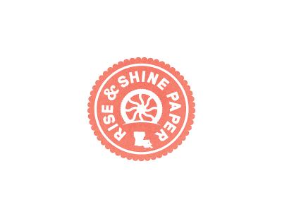 Rise & Shine stamp logo identity design