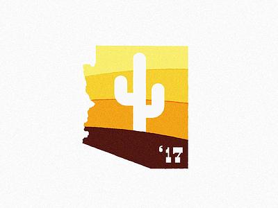 WIP sun desert cactus badge typography type mark logo illustration design