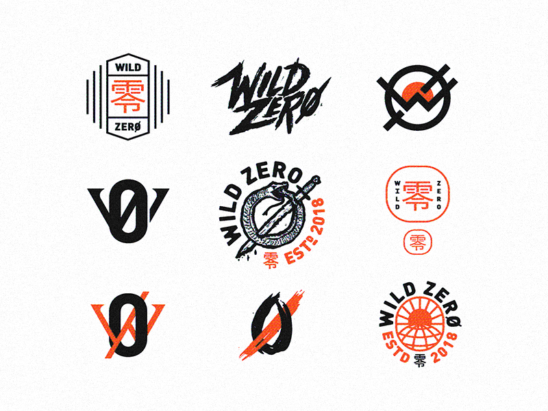 Wild Zero badge logo wrestling japanese japan design illustration wip